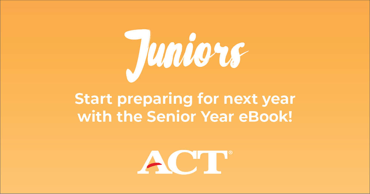 Juniors, start preparing for next year with the Senior year e-book!