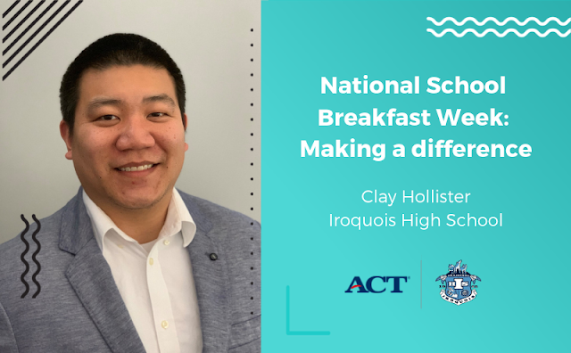 National School Breakfast Week, Making a Difference, Clay Hollister of Iroquois High School