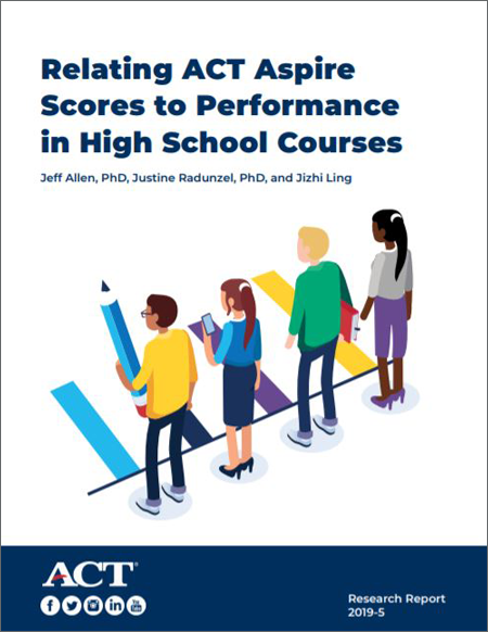 Relating ACT Aspire Scores to Performance in High School Course Report Cover