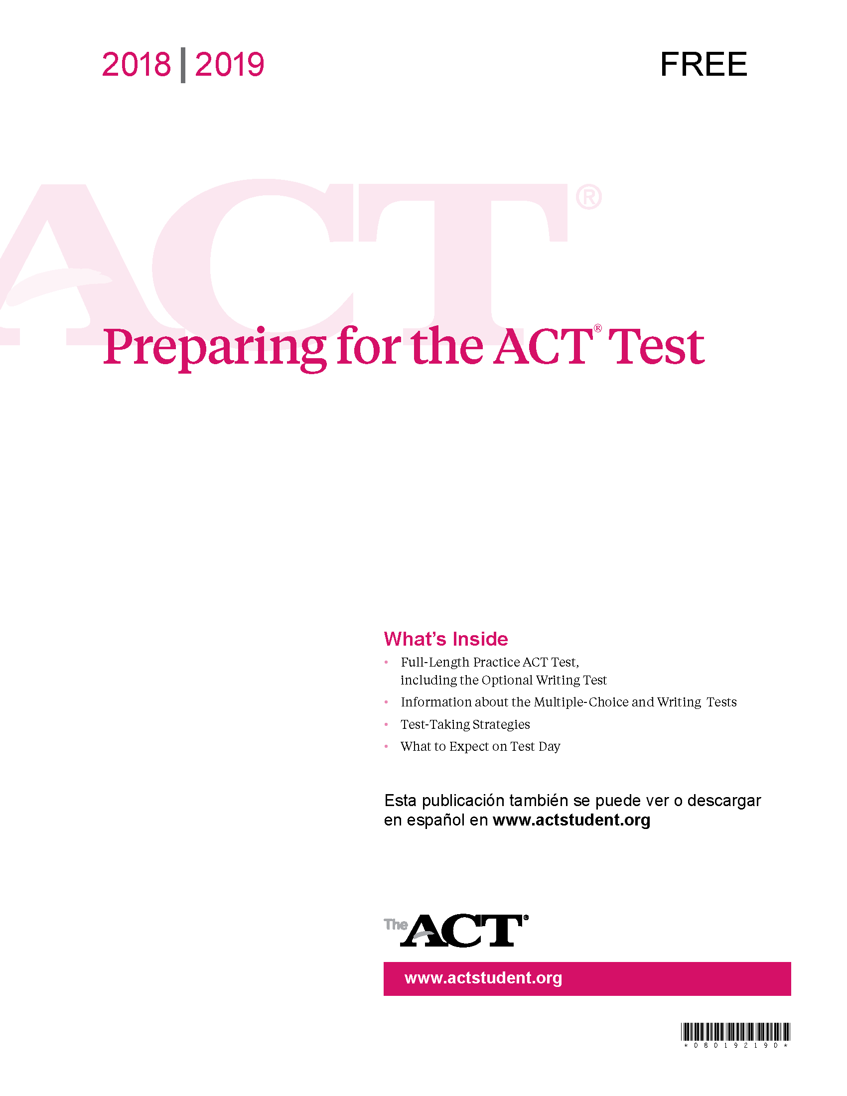 Students and Parents - ACT Solutions | ACT