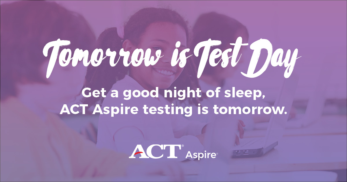 Image for Social Media Post - Tomorrow is Test Day