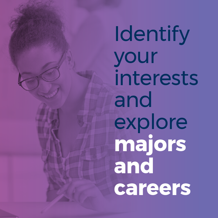 Identify your interests and explore majors and careers